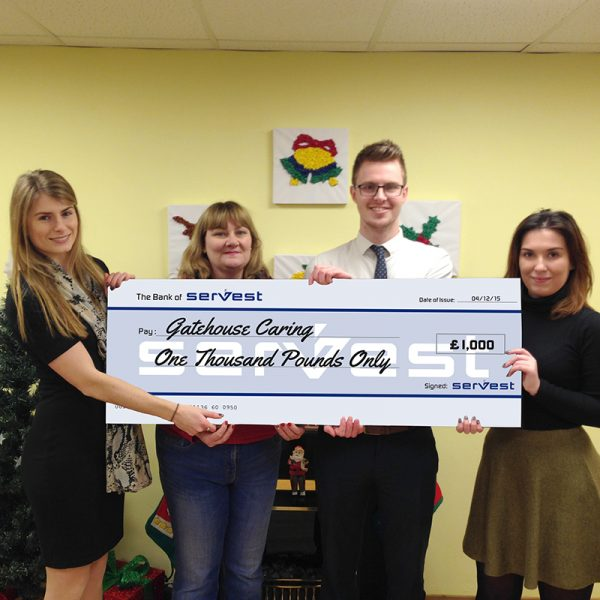 gatehouse cheque presentation - Xmas Appeal 2015